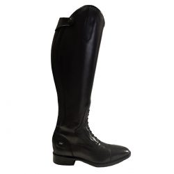 Leather Long Boot with Zip