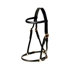 Inhand English Leather Halter - Deluxe