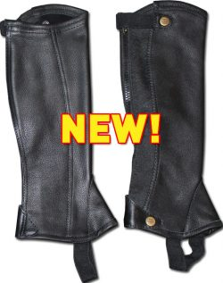 Euro Sport Pro-RIDER Leather Half Chaps - ADULT