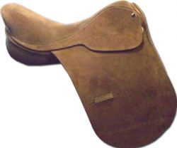 Ascot Polo Saddle Suede  - Brown 18""