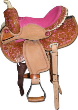 Junior Western Saddle with coloured seat