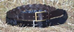 Syd Hil Leather Plaited Belt